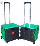 Dehuan fácil carreg o carro de roda da caixa do trole da caixa da compra do rolamento