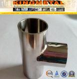 Instalación de tuberías sanitaria inoxidable de la te de SMS