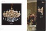 Goldene und handgemachte Farben-Kristallleuchter-Licht