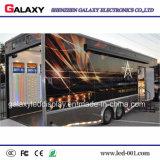 P5/P6/P8/P10を広告するための屋外のフルカラーの移動式トラックLEDビデオスクリーン