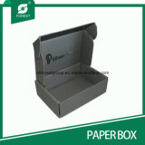 Matt Black Corrugated Shipping Paper Box mit Silver Hot Stampping