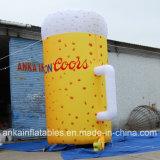 Grande cuvette gonflable réaliste de bière en à l'extérieur vente de promotion de porte