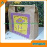 La coutume a estampé le sac de toile bon marché réutilisable d'Eco d'emballage de traitement de jute grand