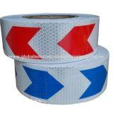 Belüftung-Pfeil-weißer und blauer Entwurfs-reflektierendes Band für LKWas