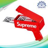 Dólar/arma supremo de papel euro del cañón del efectivo del juguete de la celebración del arma del dinero