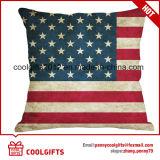 cuscino quadrato di tela dell'ammortizzatore del cotone del quadrato di disegno della bandierina di 45cm*45cm