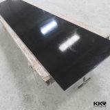 Puro Negro Artificial Stone Slabs Acrílico Sólido Superficies Hojas