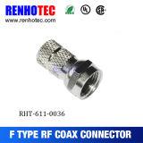 Conector coaxial de la compresión del cable del conector de F
