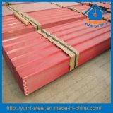 Material de construção de telhado de aço Cor de Papelão Ondulado/revestimentos descontínuos de fachadas Folhas Metálicas