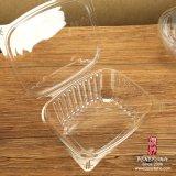 Contenitore di plastica di insalata dell'animale domestico a gettare