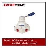 válvula industrial pneumática da alavanca da posição da maneira 4 de 4hv Seires 3 sem porca