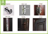 Puerta barata de la seguridad de la puerta de acero decorativa de la entrada