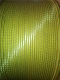 Fibre de verre double enveloppe ronde en fil de cuivre