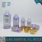 Bottiglia di olio essenziale di vetro cosmetica vuota colorata abitudine