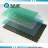 Panneau de carbonate de lac de GV poly de cavité bleue approuvée de polycarbonate