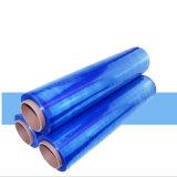Handausdehnungs-Film-Verpackungs-Film-Tausendstel-Bandspule der Fabrik-direkte LLDPE blaue bunte