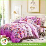 Custom Flower Printed Luxury King Cotton Bedding Sets