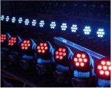 7PCS*10W 4 en 1 Mini LED Lampe à LED de lavage se déplaçant éclairage de scène disco dj Parti de l'éclairage de mariage