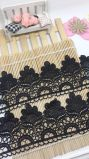 Merletto di nylon di immaginazione della guarnizione del ricamo del poliestere del merletto del nuovo del commercio all'ingrosso 9cm ricamo di riserva di larghezza per l'accessorio degli indumenti & tessile & tende domestiche
