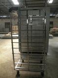De dubbel Hamburger van de Bakkerij van de Fabriek van Rekken/Karretje Baguette/Rek