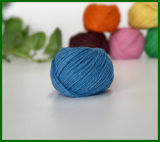 filato della fibra della iuta tinto 3ply (blu)