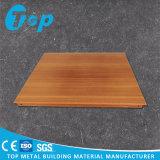 Clip de aluminio suspendido mirada de madera laminado en el panel de techo