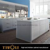 Goedkope Melamine Aangepaste Keukenkast de Van uitstekende kwaliteit van Tivoli voor Project tivo-0078V