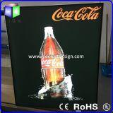 Caixa de luzes retroiluminada de tela sem feixe de diodo emissor de luz para exibição de publicidade publicitária