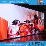 Visualización de pantalla a todo color al aire libre de P10 HD LED para la publicidad del soporte