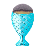Venta del nuevo cepillo del maquillaje de la sirena de la belleza de los pescados de la dimensión de una variable multiusos de la cola