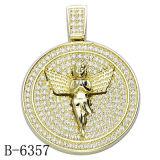 工場Hotsale 925の純銀製の人のペンダントのHip Hopの宝石類