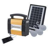 Indicatore luminoso solare portatile della lega di alluminio LED per la casa con la funzione della carica del telefono mobile del USB delle 3 lampadine del LED