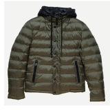 남녀 공통 남자 겨울은 대조 두건을%s 가진 재킷의 아래 날조했다