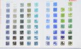 Baño Azulejos Mozaika de cristal para pared y suelo