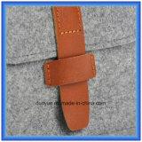 OEM de la fábrica de fieltro de lana portátil de pequeño tamaño del almacenaje del bolso, regalo de la promoción Embalaje bolso de la cartera / bolso cosmético