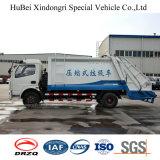 3cbm Dongfeng 유로 4 디젤 쓰레기 쓰레기 압축 분쇄기 수송 트럭