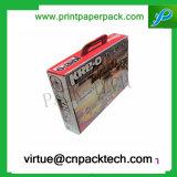 Rectángulo de papel de lujo de encargo barato personalizado del cosmético del cuidado de piel