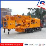Pompa per calcestruzzo montata camion mobile con il miscelatore dell'Gemellare-Asta cilindrica