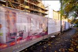 L'impression numérique couleur CMJN CMJN personnalisé de haute résolution bannière Bannière de clôture à mailles
