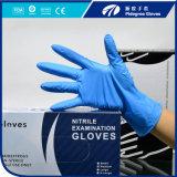 Blaue Farben-geben Wegwerfnitril-Handschuh-Puder, Nahrungsmittelgrad und medizinischer Grad Aql1.5 frei