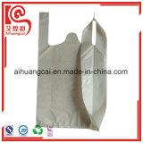 La bolsa de plástico reciclable de las compras del chaleco