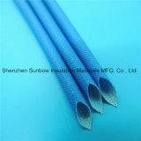 Isolation 2.5kv gainant tressé par fibre de verre de silicones de protection de câble à haute tension