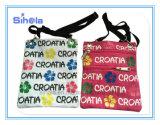 Sacchetto della tela di canapa del ricordo del passaporto della stampa del Croatia piccolo