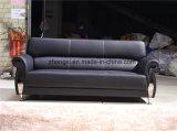 Sofá de cuero de la pierna del acero inoxidable del sofá de la oficina de la PU del diseño moderno