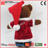 Don animal en peluche ours en peluche de jouets de Noël doux