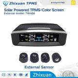 多彩なスクリーン4台のセンサーが付いている太陽ワイヤーTPMSタイヤ空気圧の温度モニタリングシステム