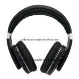 Ruido estéreo sin hilos de Bluetooth que cancela el receptor de cabeza - negro