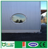 Ventana redonda de aluminio de estilo francés Pnoc003