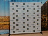 カスタムステップ及び繰り返しの立場の背景幕ファブリック旗
