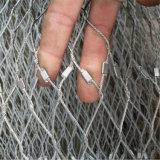 Ferrule или завязанная сетка зверинца кабеля нержавеющей стали